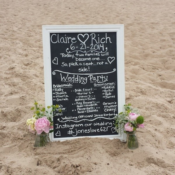 Claire and Rich Beach Ceremony