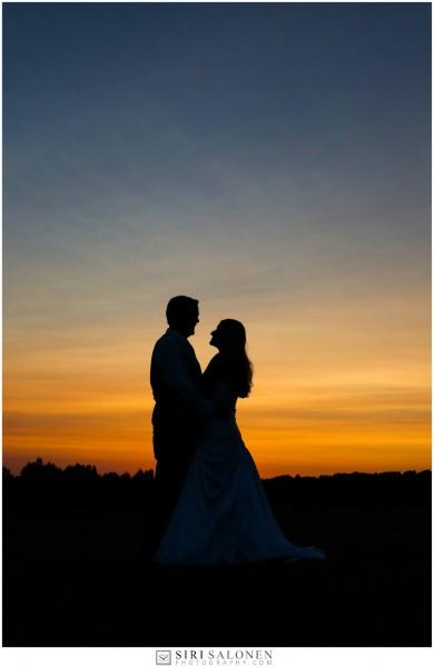Katie and Adam's Sunset Photo