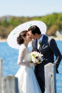 Bride and Groom at the Boathouse | Rayan Anastor Photography | Old Mission Wedding Photographer